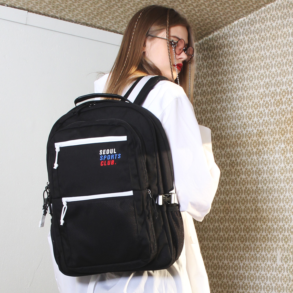[피스메이커]SSC SQUARE BACKPACK (BLACK WHITE)