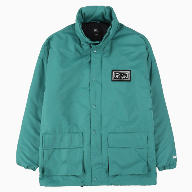 [오베이]DERBY BOX PARKA - DUSTY TEAL 점퍼