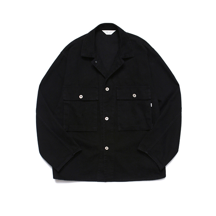 [라퍼지스토어]Wide Twill Trucker Jacket Black