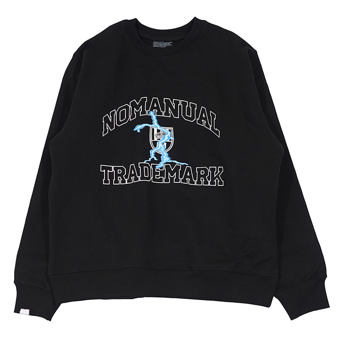 [노매뉴얼]ARCH LOGO SWEAT SHIRT - BLACK