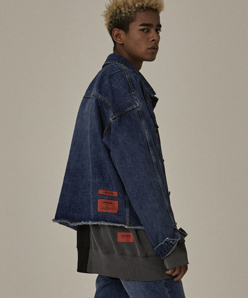 [오베르]18FW NON CLOSED BLUE WASHING DENIM JACKET