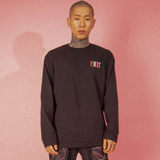 [엘티씨케이]EXIT Logo Long Sleeve - BLACK