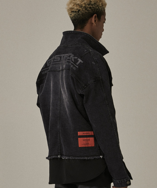 [오베르]18FW VERSTECKT WASHING BLACK DENIM JACKET