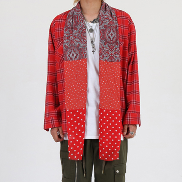 [이노반트]Paisley shirt (red)