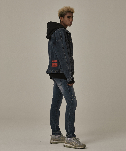 [오베르]18FW GRAY WASHING DENIM PANTS