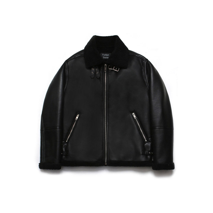 [라퍼지스토어]B3 Mouton Jacket_Rank Black