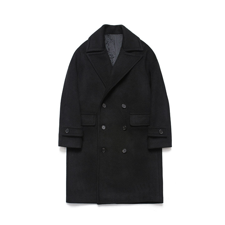 [라퍼지스토어]Wool Over Double Coat_Black