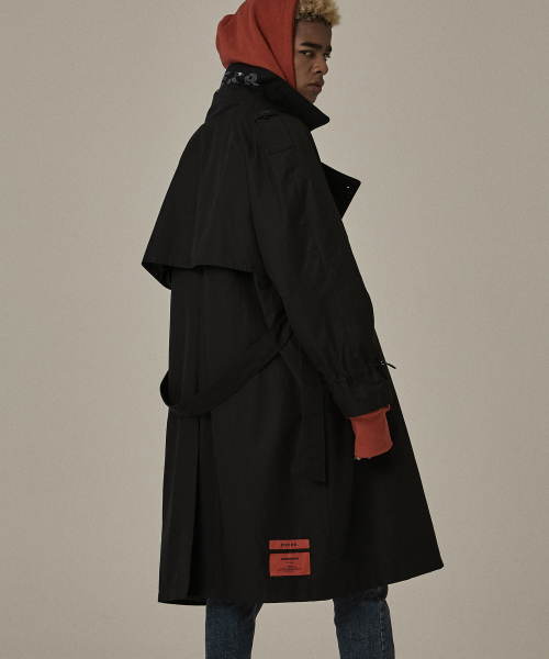 [오베르]18FW BLACK TRENCH COAT