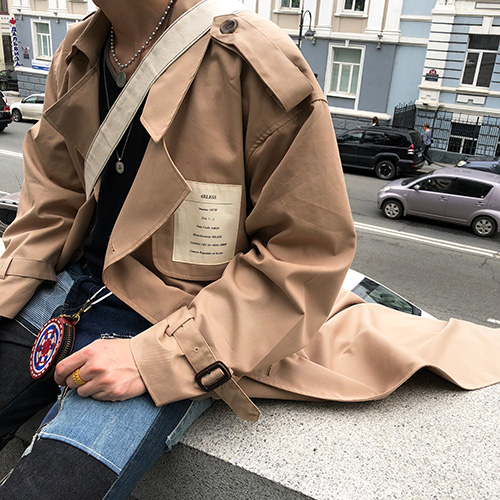 [4BLESS][2차 재입고] Label Over Trench Coat Beige