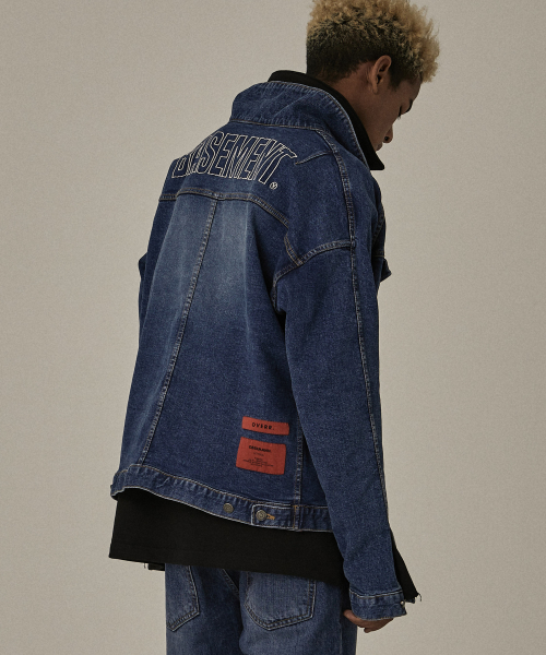 [오베르]18FW BS BLUE WASHING DENIM JACKET