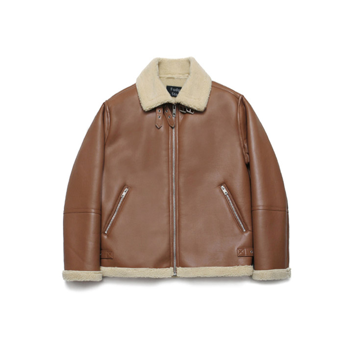 [라퍼지스토어]B3 Mouton Jacket_Rich Brown