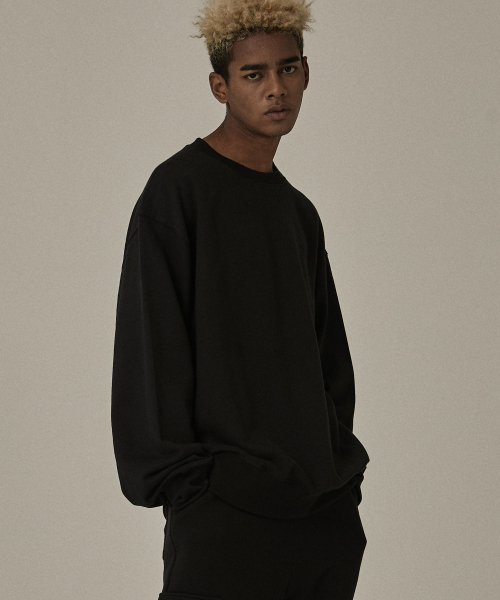 [오베르]18FW WATERSHED BLACK SWEATSHIRTS
