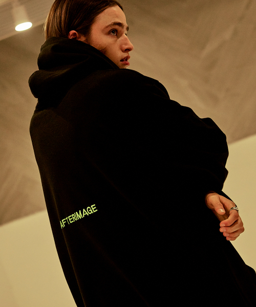 [에드]AFTERIMAGE OVERSIZED TAPING HOODIE BLACK