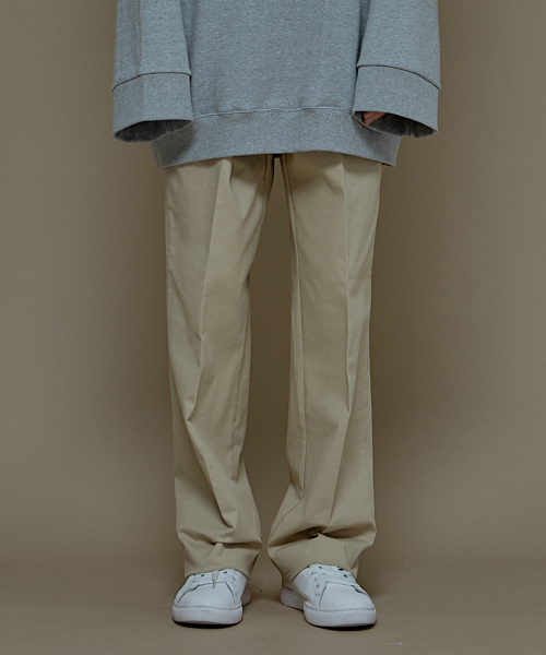 [에드]SUPER WIDE COTTON PANTS BEIGE 한정수량 세일