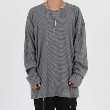[이노반트]Stripe over long sleeve (gray)