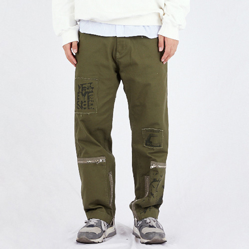 [예스아이씨]Y.E.S PATCHED PANTS OLIVE
