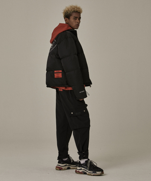 [오베르]18FW BLACK CARGO BUCKLE PANTS