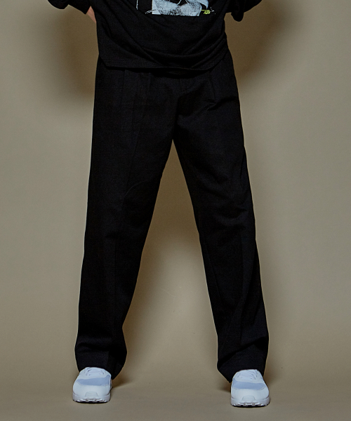 [에드]SUPER WIDE COTTON PANTS BLACK 한정수량 세일