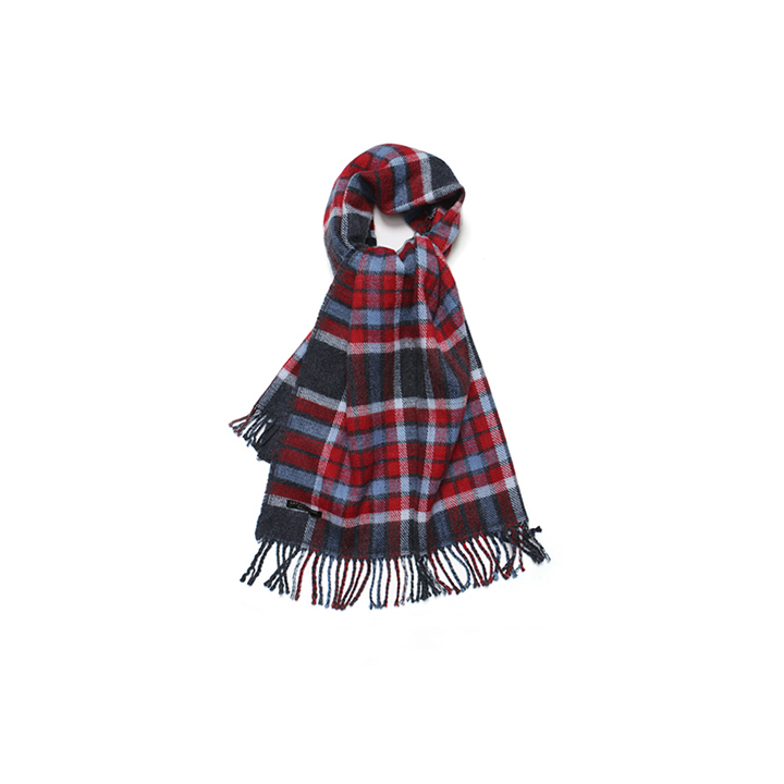 [라퍼지스토어]Cashmere Reversible Check Muffer_Madras Navy