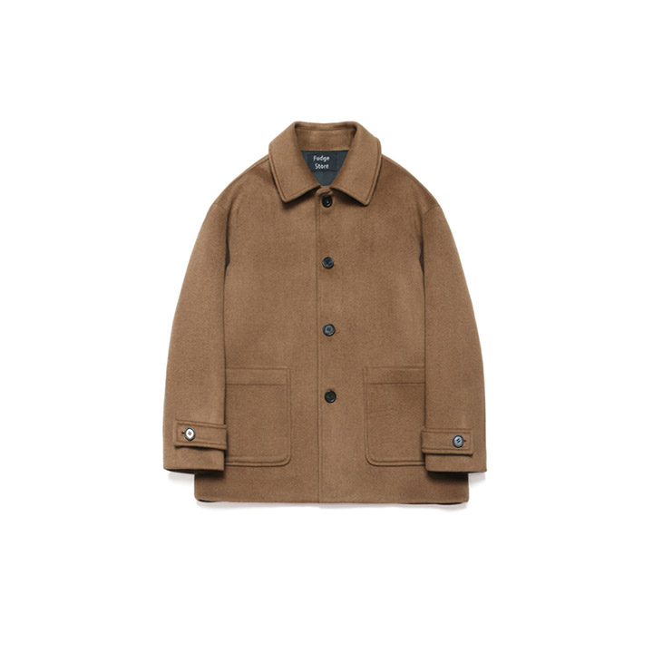 [라퍼지스토어]Wool Over Half Coat_Russet Camel