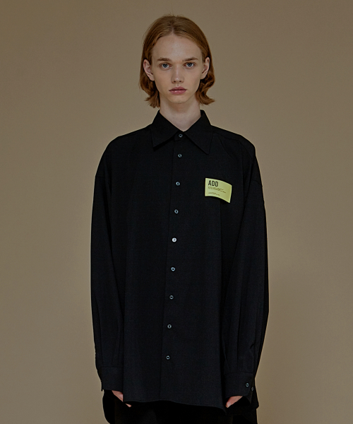 [에드]ADD PATCH AVANTGARDE SHIRTS BLACK