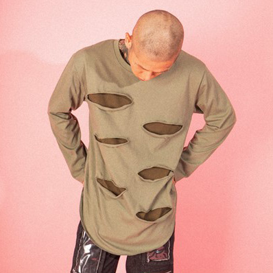 [엘티씨케이]Destroyed Long Sleeve - KHAKI