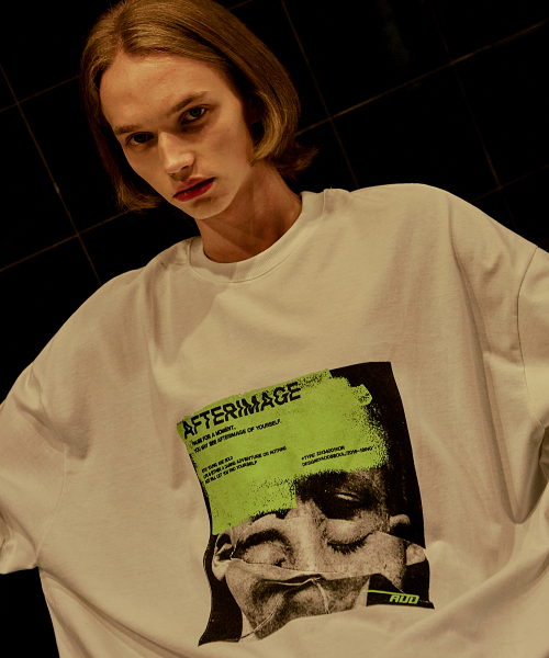 [에드]AFTERIMAGE DOUBLE SLEEVE TEE IVORY 한정수량 세일