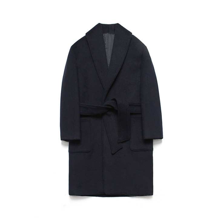[라퍼지스토어]Wool robe Coat_Dusky Navy