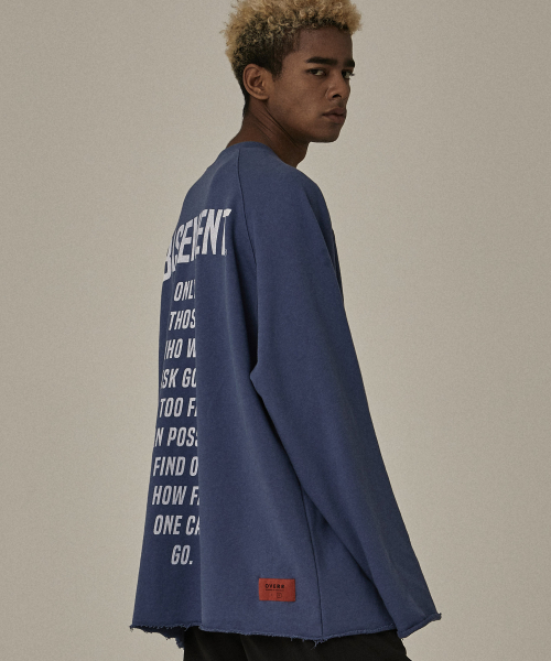 [오베르]18FW NON CLOSED BLUE SWEATSHIRTS