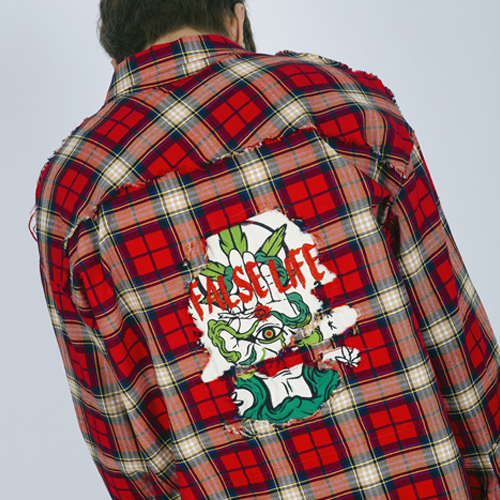 [weksnoop/윅스눕] Marihuana Check Shirt - Red