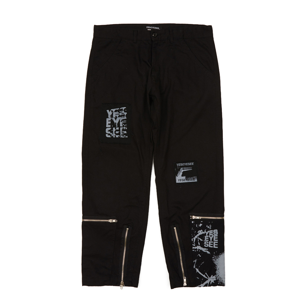 [예스아이씨]E.S PATCHED PANTS BLACK