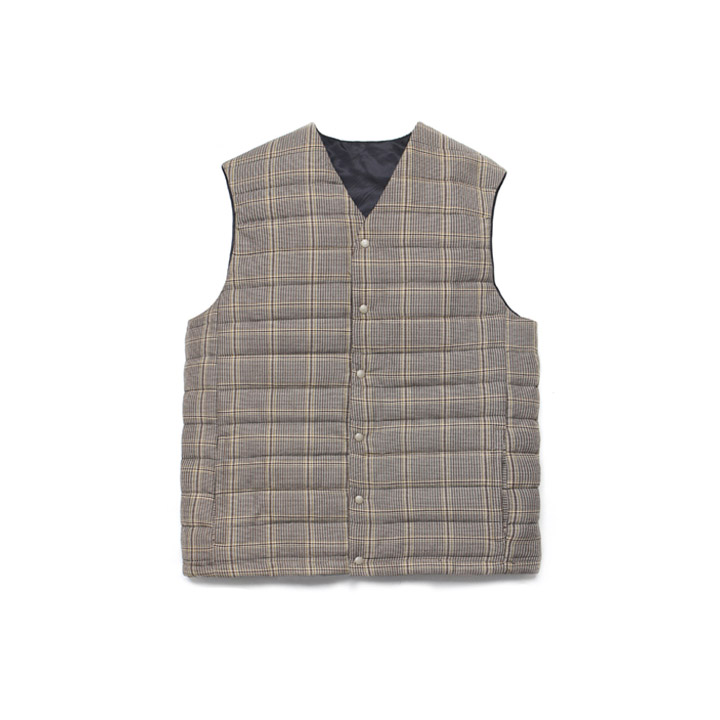 [라퍼지스토어]Wool Check Compact Down Vest