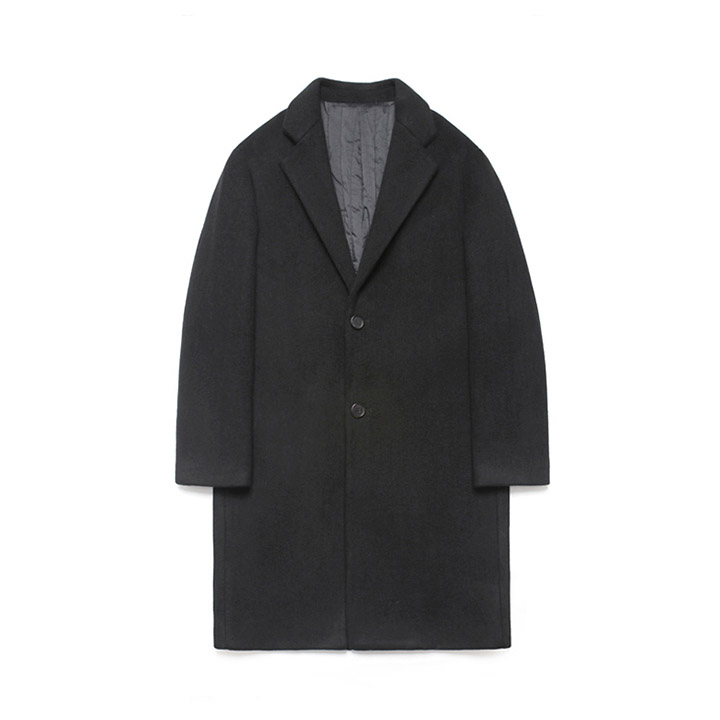 [라퍼지스토어]Wool Single Coat_Black