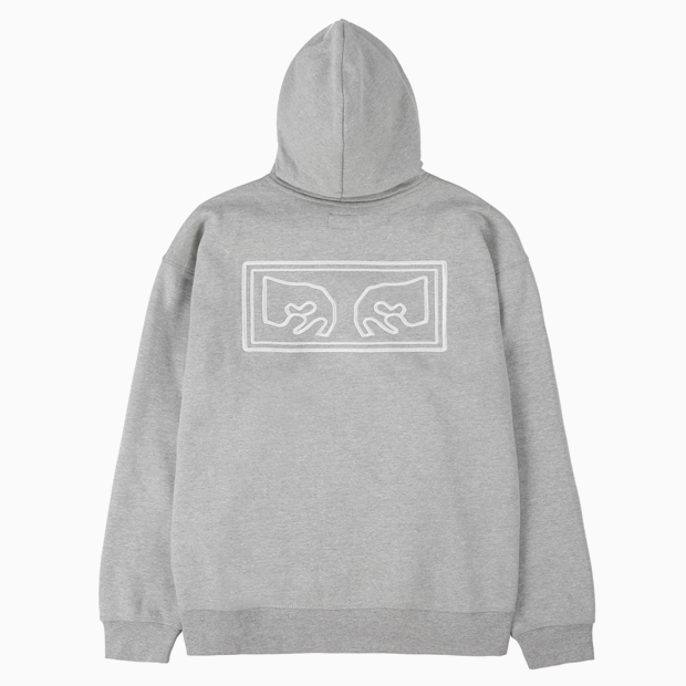 [오베이]OBEY EYES HEAVY HOOD - ATHLETIC HEATHER GREY