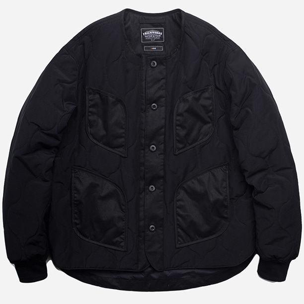 [프리즘웍스]Rounding quilted jacket _ black