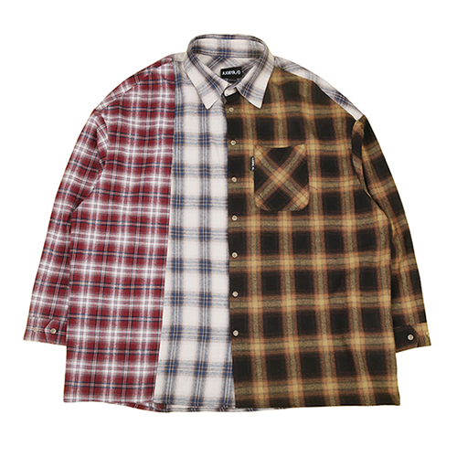 [아조바이아조]Tri Check Shirt [Yellow]