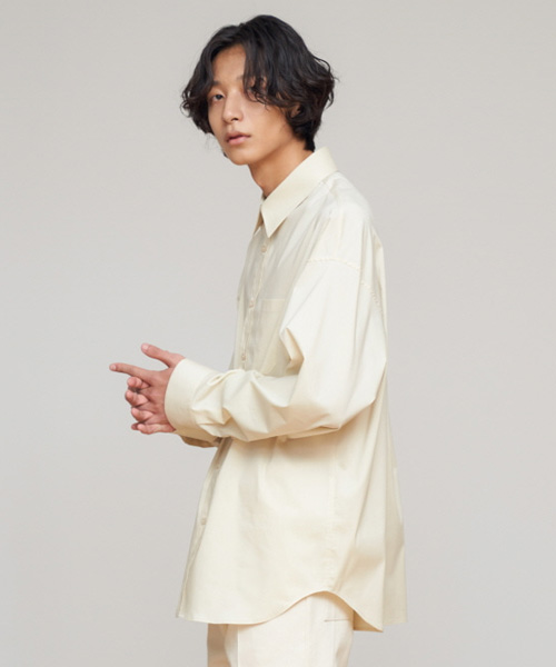 [에스티유]Overfit shirt light yellow