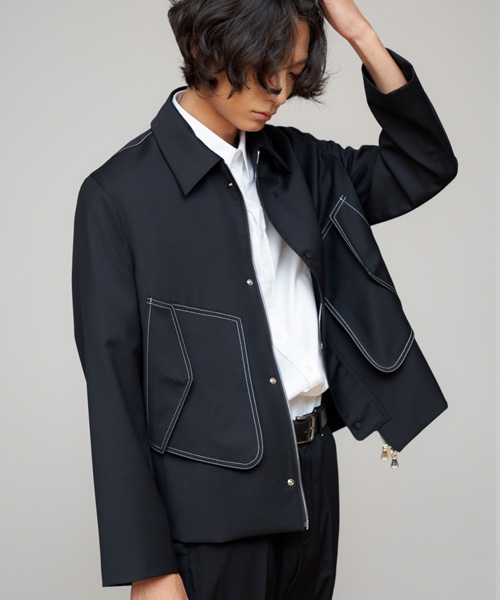 [에스티유]Stitch jacket black