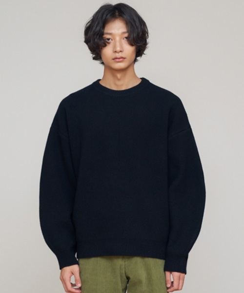 [에스티유]Overfit wool knit black