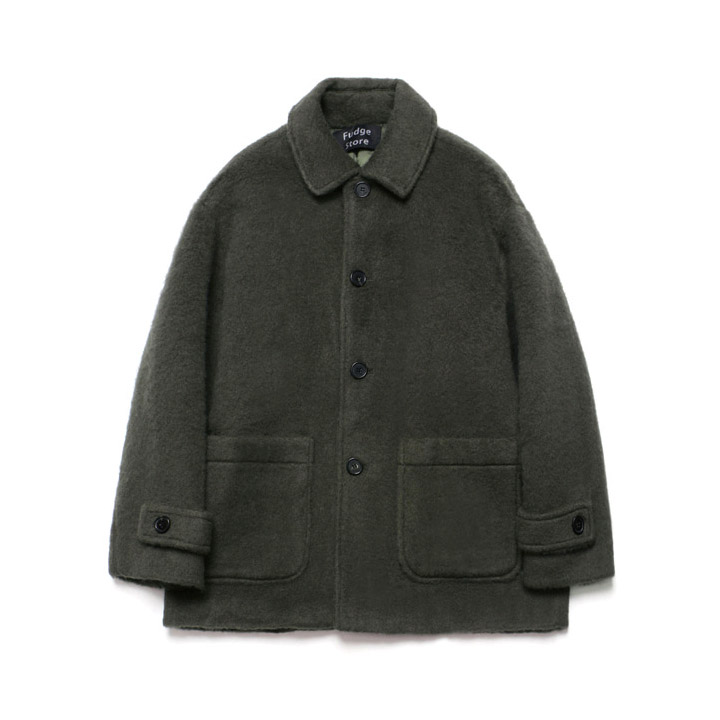 [라퍼지스토어]Teddy Bear Over Half Coat_Khaki