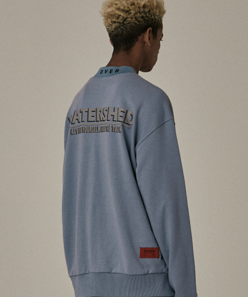 [오베르]18FW WATERSHED HALF BLUE SWEATSHIRTS