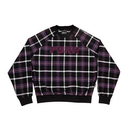 [아조바이아조]PONR Check Sweatshirt [Black]