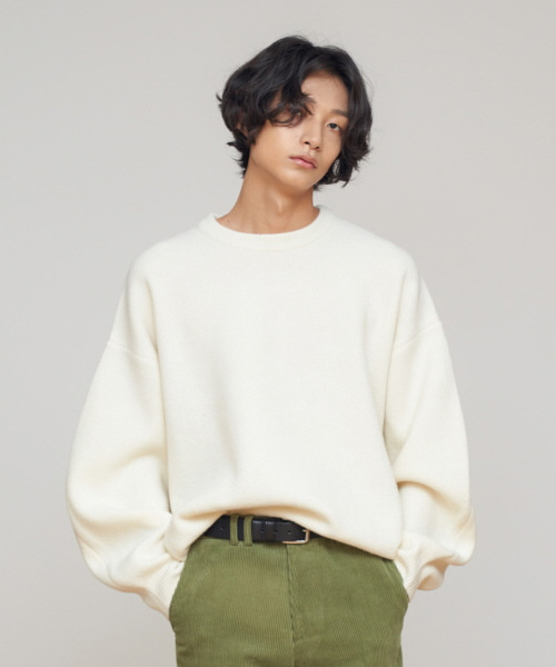 [에스티유]Overfit wool knit cream (SOLD OUT)