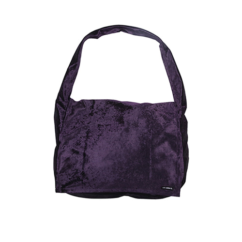 [아조바이아조]Velvet Messenger Bag [Purple]
