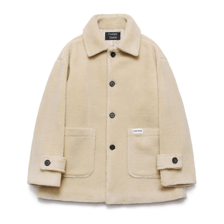 [라퍼지스토어]Fleece Over Half Coat_Beige