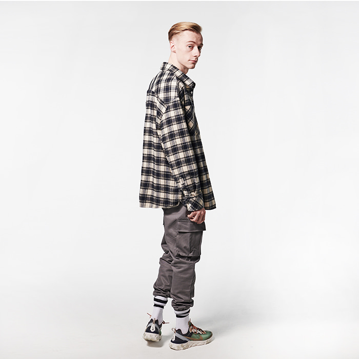 [데드엔드] NAVY FLANNEL SHIRTS