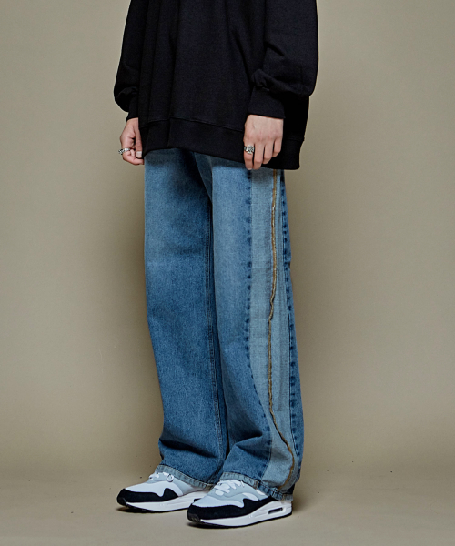 [에드]UGLY LONG WIDE DENIM