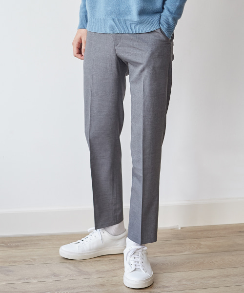 [모노소잉/핸스] WOOL SET-UP TROUSER(GRAY)