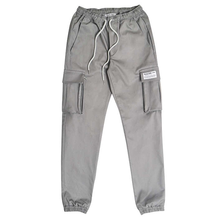 [데드엔드] GRAY CARGO ZIPPER JOG PANTS