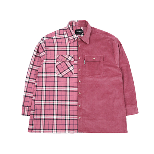[아조바이아조]Check & Corduroy Jacket [Pink]